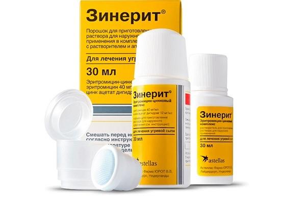 Комплексный препарат от акне Зинерит
