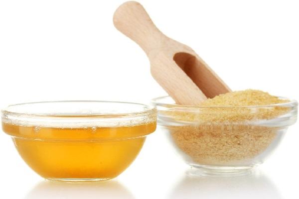 Мед с желатином для сужения пор