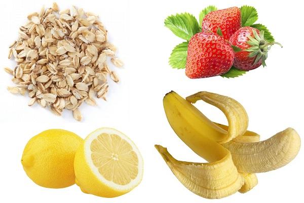 Овсянка и фрукты